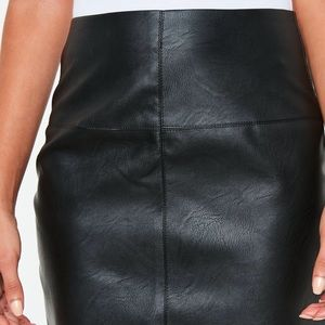 Missguided Skirts - Missguided Faux Leather Black Mini Pencil Skirt